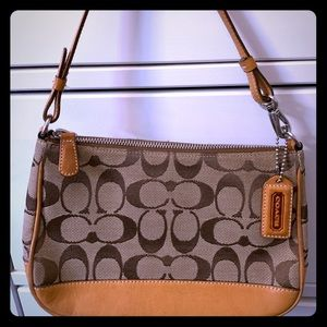 Coach Small Monogrammed Canvas Shoulder Handbag